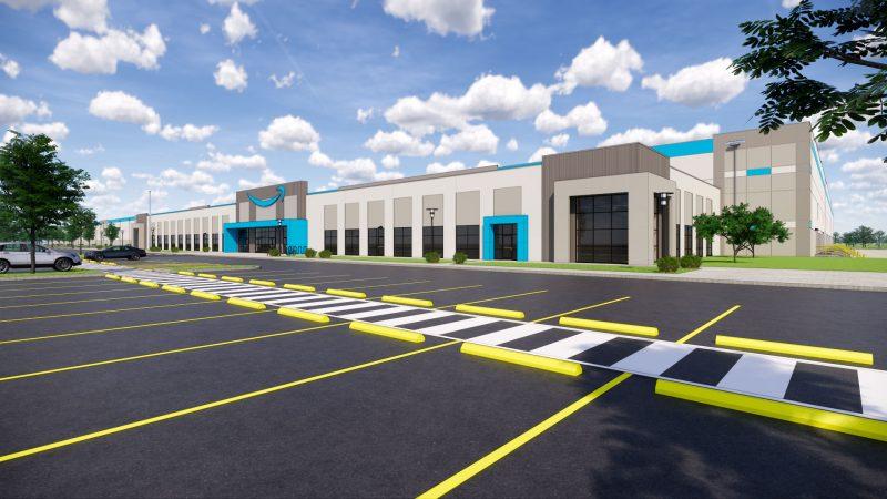 Illustration of new Amazon facility in Oklahoma City