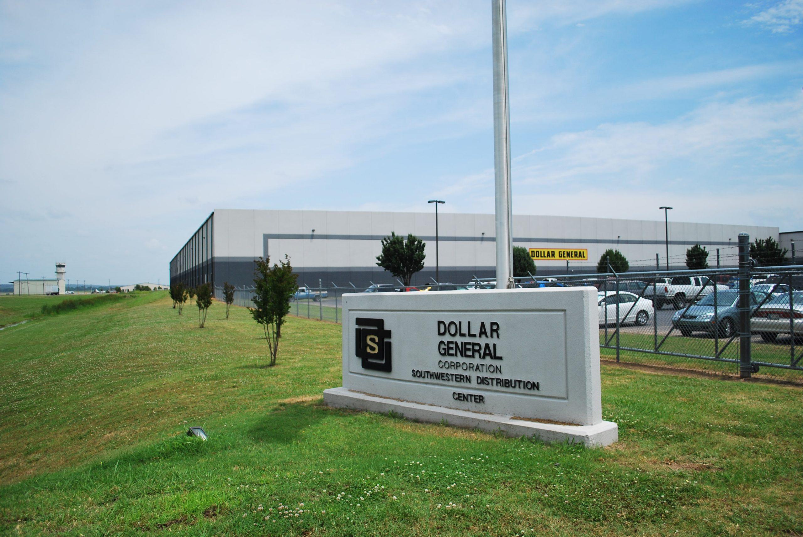 A large Dollar General Distribution Center building