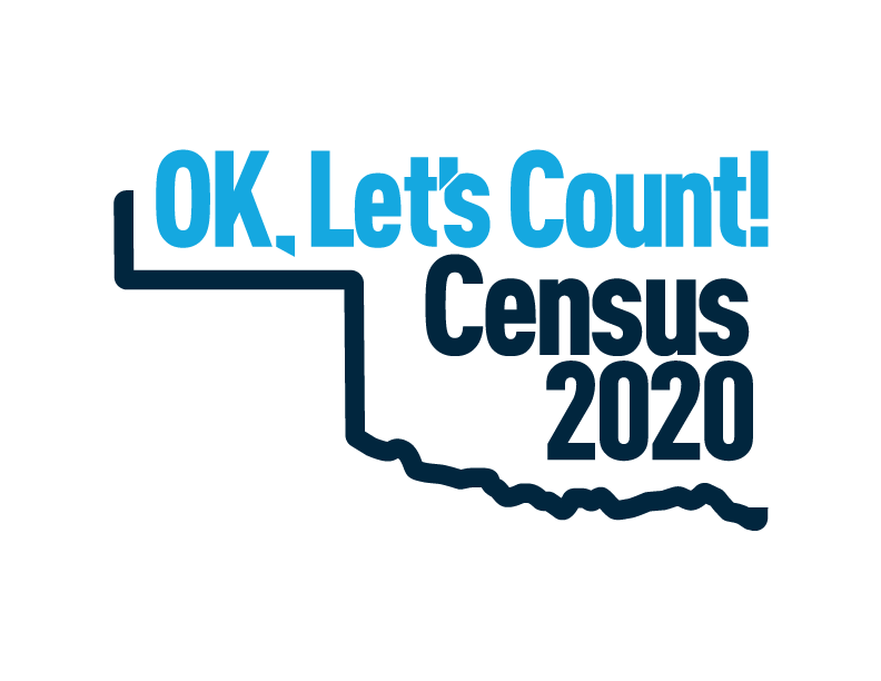 OK, Let's Count Census 2020 logo