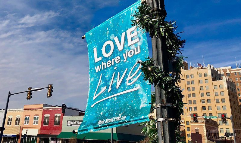 "Enid – Monthly Awareness Banners that say ""Love where you live"""