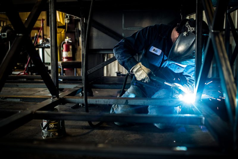 Welder at Newell Coach in Oklahoma